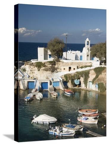 Village of Mandrakia, Island of Milos, Cyclades, Greek Islands, Greece, Europe-Richard Maschmeyer-Stretched Canvas Print