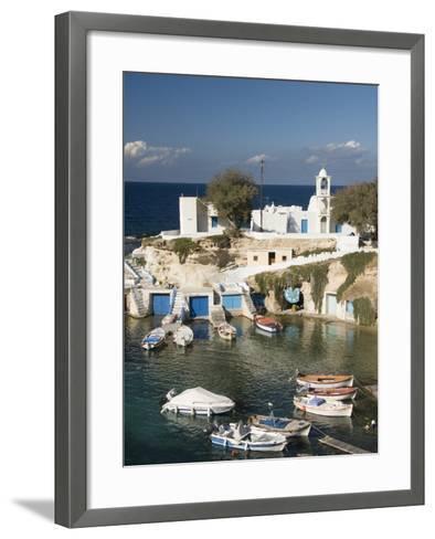 Village of Mandrakia, Island of Milos, Cyclades, Greek Islands, Greece, Europe-Richard Maschmeyer-Framed Art Print