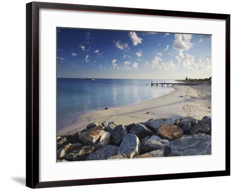 Busselton Beach at Dawn, Western Australia, Australia, Pacific-Ian Trower-Framed Art Print