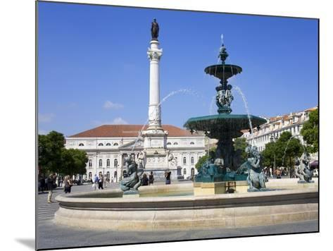 Dom Pedro Monument in the Rossio District, Lisbon, Portugal, Europe-Richard Cummins-Mounted Photographic Print