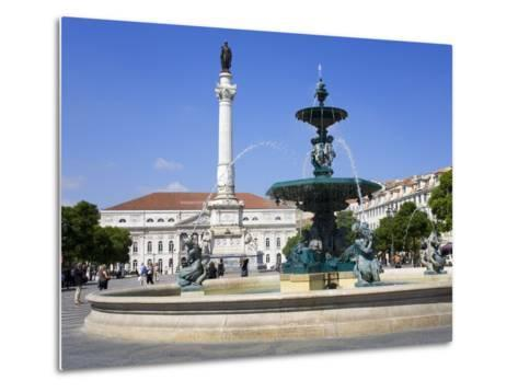 Dom Pedro Monument in the Rossio District, Lisbon, Portugal, Europe-Richard Cummins-Metal Print