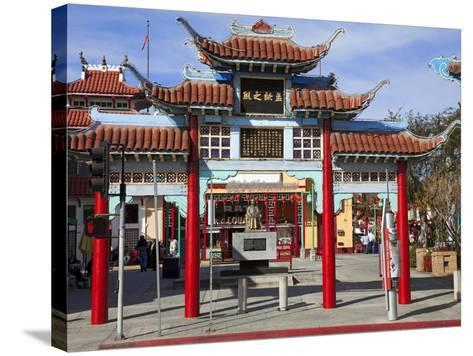 Central Plaza, Chinatown, Los Angeles, California, United States of America, North America-Richard Cummins-Stretched Canvas Print