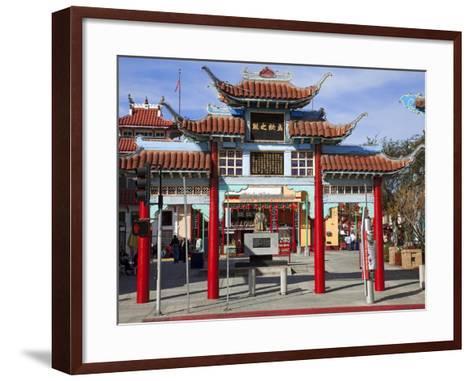 Central Plaza, Chinatown, Los Angeles, California, United States of America, North America-Richard Cummins-Framed Art Print
