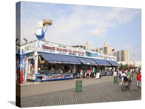 Boardwalk, Coney Island, Brooklyn, New York City, United States of America, North America-Wendy Connett-Stretched Canvas Print