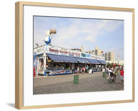 Boardwalk, Coney Island, Brooklyn, New York City, United States of America, North America-Wendy Connett-Framed Art Print