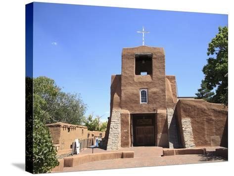 San Miguel Mission Church, Oldest Church in the United States, Santa Fe, New Mexico-Wendy Connett-Stretched Canvas Print