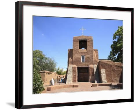 San Miguel Mission Church, Oldest Church in the United States, Santa Fe, New Mexico-Wendy Connett-Framed Art Print