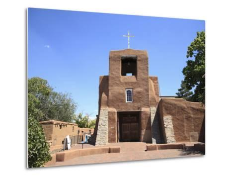 San Miguel Mission Church, Oldest Church in the United States, Santa Fe, New Mexico-Wendy Connett-Metal Print