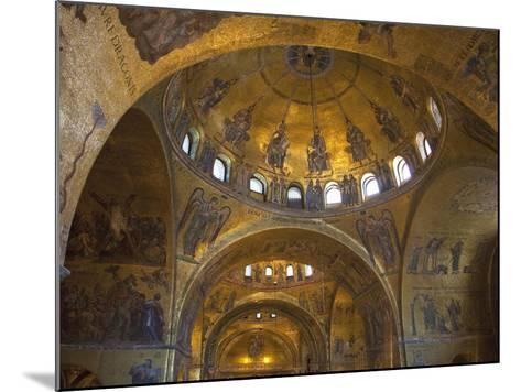 Interior of St. Mark's Basilica with Golden Byzantine Mosaics Illuminated, Venice-Peter Barritt-Mounted Photographic Print