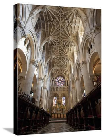 Christ Church Cathedral Interior, Oxford University, Oxford, England-Peter Barritt-Stretched Canvas Print