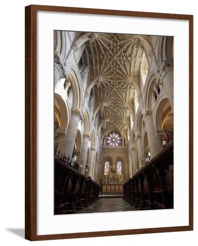 Christ Church Cathedral Interior, Oxford University, Oxford, England-Peter Barritt-Framed Art Print