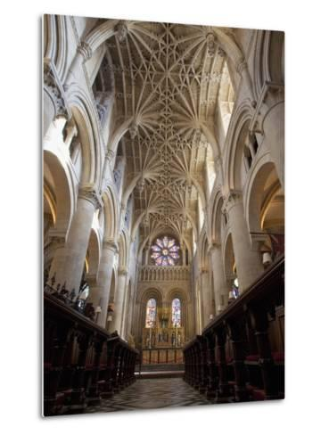 Christ Church Cathedral Interior, Oxford University, Oxford, England-Peter Barritt-Metal Print