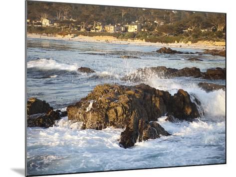 Rocky Coast Along Ocean Drive in Carmel, California, United States of America, North America-Donald Nausbaum-Mounted Photographic Print