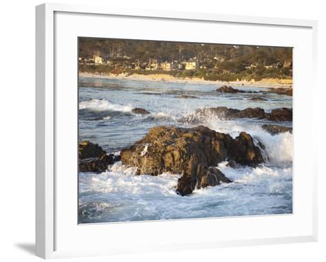 Rocky Coast Along Ocean Drive in Carmel, California, United States of America, North America-Donald Nausbaum-Framed Art Print