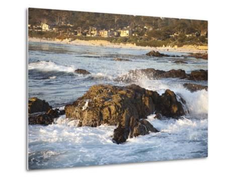 Rocky Coast Along Ocean Drive in Carmel, California, United States of America, North America-Donald Nausbaum-Metal Print