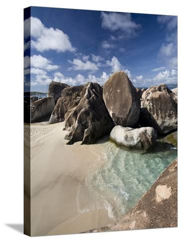 Large Eroded Granite Outcrops at the Baths in Virgin Gorda, British Virgin Islands, West Indies-Donald Nausbaum-Stretched Canvas Print