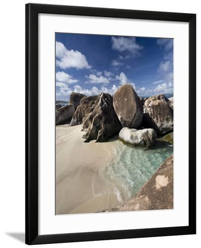 Large Eroded Granite Outcrops at the Baths in Virgin Gorda, British Virgin Islands, West Indies-Donald Nausbaum-Framed Art Print