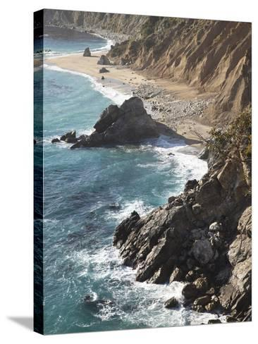Rocky Stretch of Coastline in Big Sur, California, United States of America, North America-Donald Nausbaum-Stretched Canvas Print