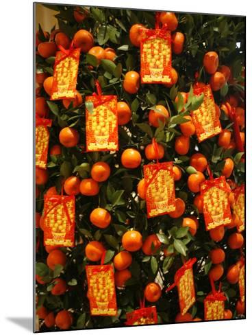 Tangerine Good Luck Symbols, Chinese New Year Decoration, Macao, China, Asia--Mounted Photographic Print