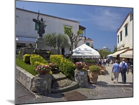 Main Street of Anacapri in Early Morning Summer Sunshine, Isle of Capri, Campania, Italy, Europe-Peter Barritt-Mounted Photographic Print
