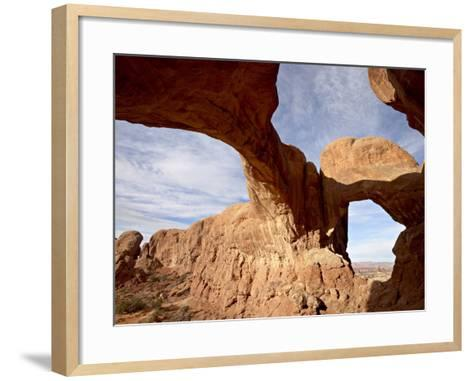 Double Arch, Arches National Park, Utah, United States of America, North America-James Hager-Framed Art Print