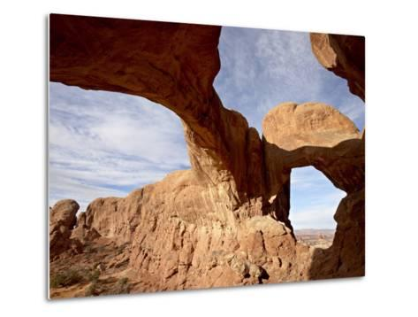 Double Arch, Arches National Park, Utah, United States of America, North America-James Hager-Metal Print