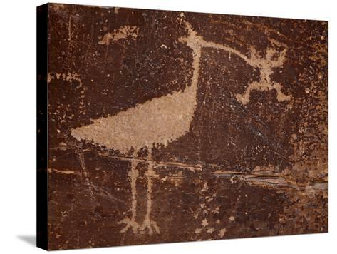 Bird Petroglyph, Petrified Forest National Park, Arizona, United States of America, North America-James Hager-Stretched Canvas Print