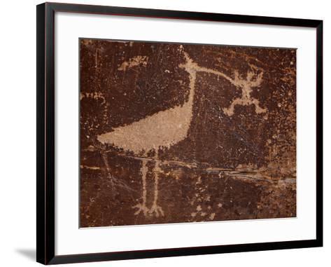 Bird Petroglyph, Petrified Forest National Park, Arizona, United States of America, North America-James Hager-Framed Art Print