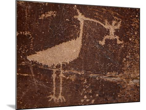 Bird Petroglyph, Petrified Forest National Park, Arizona, United States of America, North America-James Hager-Mounted Photographic Print