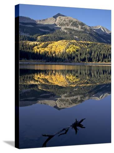 Lost Lake at Dawn in the Fall, Grand Mesa-Uncompahgre-Gunnison National Forest, Colorado, USA-James Hager-Stretched Canvas Print