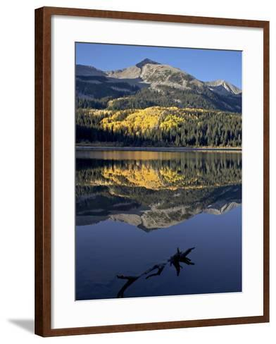 Lost Lake at Dawn in the Fall, Grand Mesa-Uncompahgre-Gunnison National Forest, Colorado, USA-James Hager-Framed Art Print