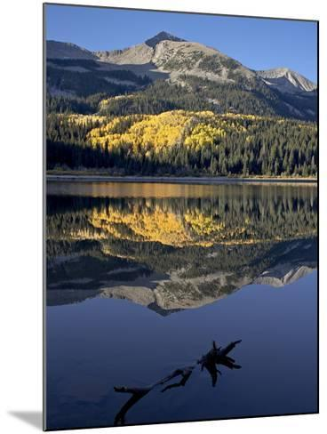 Lost Lake at Dawn in the Fall, Grand Mesa-Uncompahgre-Gunnison National Forest, Colorado, USA-James Hager-Mounted Photographic Print