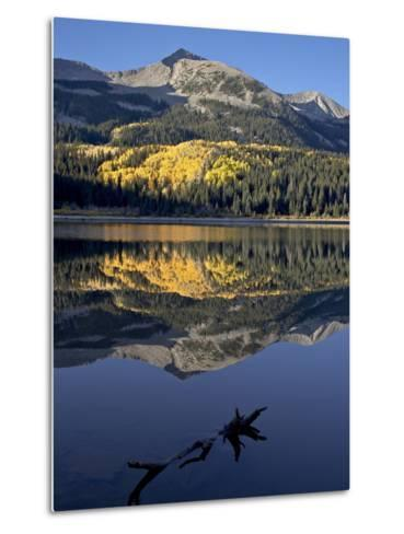 Lost Lake at Dawn in the Fall, Grand Mesa-Uncompahgre-Gunnison National Forest, Colorado, USA-James Hager-Metal Print