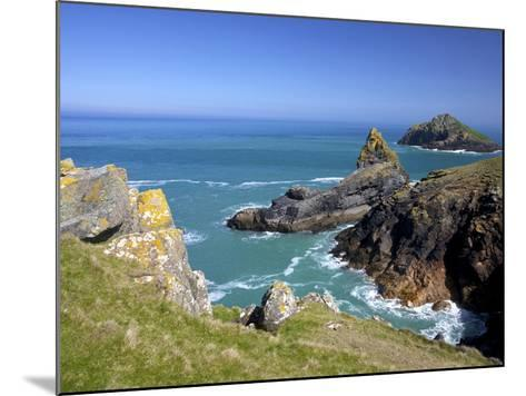 View of the Mouls Off Rumps Point, Pentire Headland, Polzeath, North Cornwall, England, Uk-Peter Barritt-Mounted Photographic Print