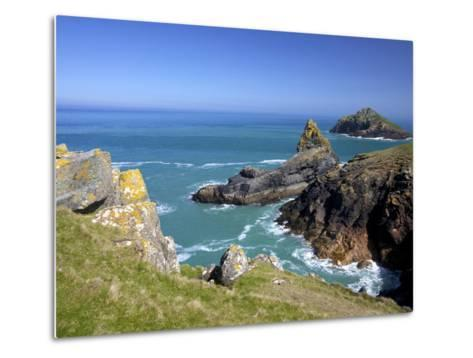 View of the Mouls Off Rumps Point, Pentire Headland, Polzeath, North Cornwall, England, Uk-Peter Barritt-Metal Print