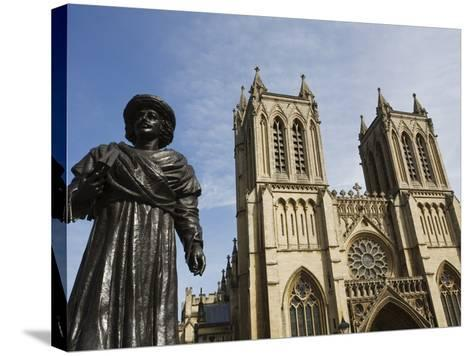Sculpture of Bengali Scholar Outside the Cathedral, Bristol, Avon, England, United Kingdom, Europe-Jean Brooks-Stretched Canvas Print