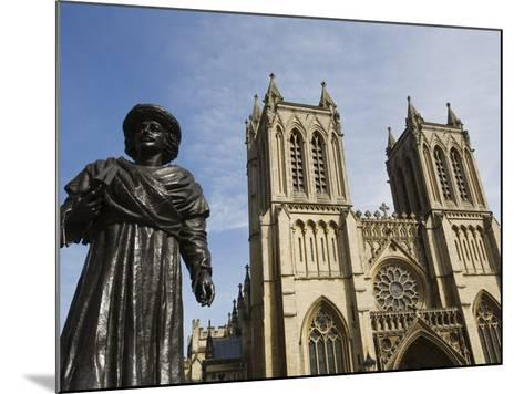 Sculpture of Bengali Scholar Outside the Cathedral, Bristol, Avon, England, United Kingdom, Europe-Jean Brooks-Mounted Photographic Print