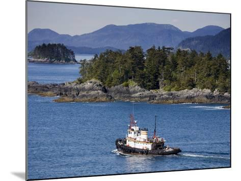 Tugboat in Sitka Sound, Baranof Island, Southeast Alaska, United States of America, North America-Richard Cummins-Mounted Photographic Print