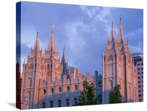 Mormon Temple in Temple Square, Salt Lake City, Utah, United States of America, North America-Richard Cummins-Stretched Canvas Print