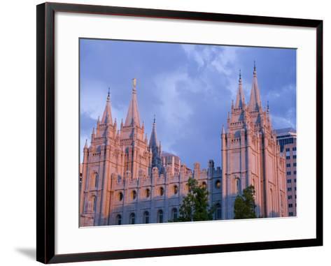 Mormon Temple in Temple Square, Salt Lake City, Utah, United States of America, North America-Richard Cummins-Framed Art Print