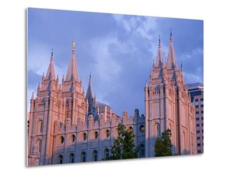 Mormon Temple in Temple Square, Salt Lake City, Utah, United States of America, North America-Richard Cummins-Metal Print