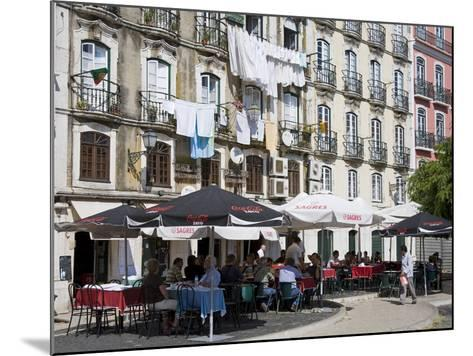 Cafe on Bacalhoeiros Street in the Alfama District, Lisbon, Portugal, Europe-Richard Cummins-Mounted Photographic Print