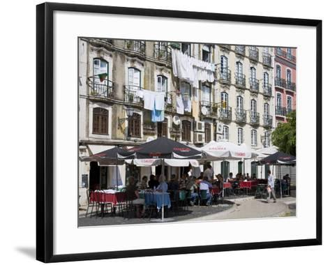 Cafe on Bacalhoeiros Street in the Alfama District, Lisbon, Portugal, Europe-Richard Cummins-Framed Art Print