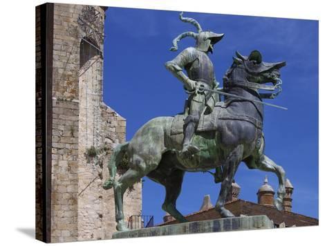 Statue of Francisco Pizarro, Plaza Mayor, Trujillo, Extremadura, Spain, Europe-Jeremy Lightfoot-Stretched Canvas Print