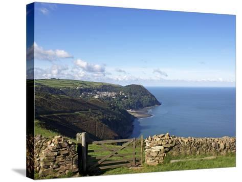 Lynmouth From Countisbury, Exmoor, Somerset, England, United Kingdom, Europe-Jeremy Lightfoot-Stretched Canvas Print