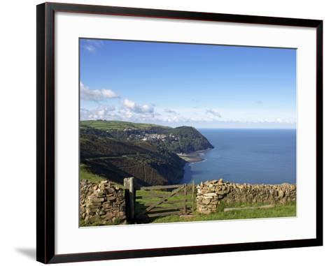 Lynmouth From Countisbury, Exmoor, Somerset, England, United Kingdom, Europe-Jeremy Lightfoot-Framed Art Print