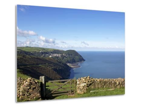 Lynmouth From Countisbury, Exmoor, Somerset, England, United Kingdom, Europe-Jeremy Lightfoot-Metal Print