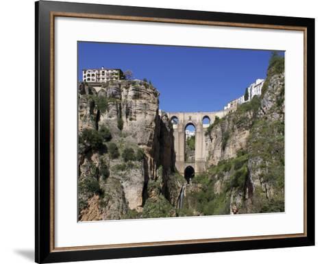 Tajo Gorge and New Bridge, Ronda, Malaga Province, Andalucia, Spain, Europe-Jeremy Lightfoot-Framed Art Print