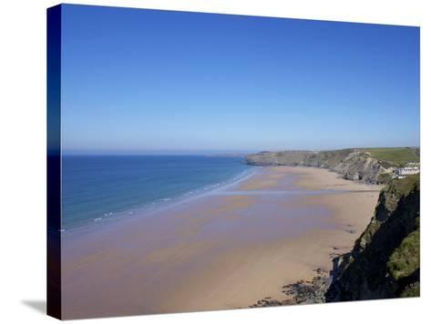 Watergate Bay, Newquay, Cornwall, England, United Kingdom, Europe-Jeremy Lightfoot-Stretched Canvas Print