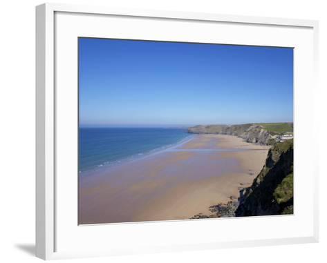 Watergate Bay, Newquay, Cornwall, England, United Kingdom, Europe-Jeremy Lightfoot-Framed Art Print